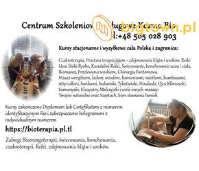 Kurs Reiki masażu świecowania uszu terapia jajem Dźwiękiem Klimuszko stawiania baniek Czakroterapii