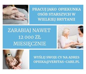 Praca w Anglii dla Opiekunek Seniora