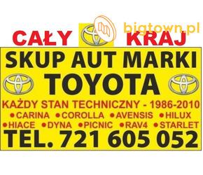 Kupię Stare Toyoty Corolla Carina Avensis Picnic Hiace, Skup Aut